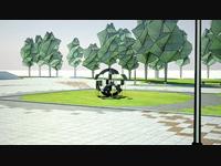 Видео. Анимация обозрения памятника