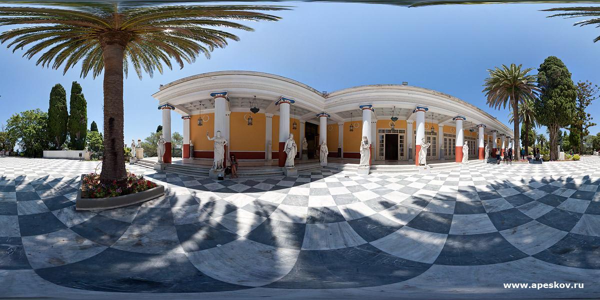 Архитектурная фотосъемка Дворца Аххилион в Корфу. Греция