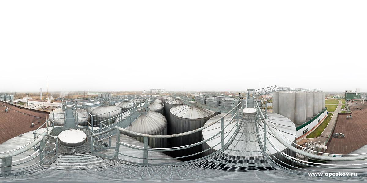 Панорамная фотосъемка Клинского пивоваренного завода