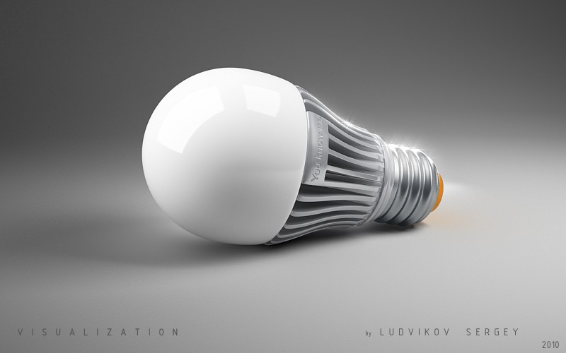 Визуализация лампы. Hor.