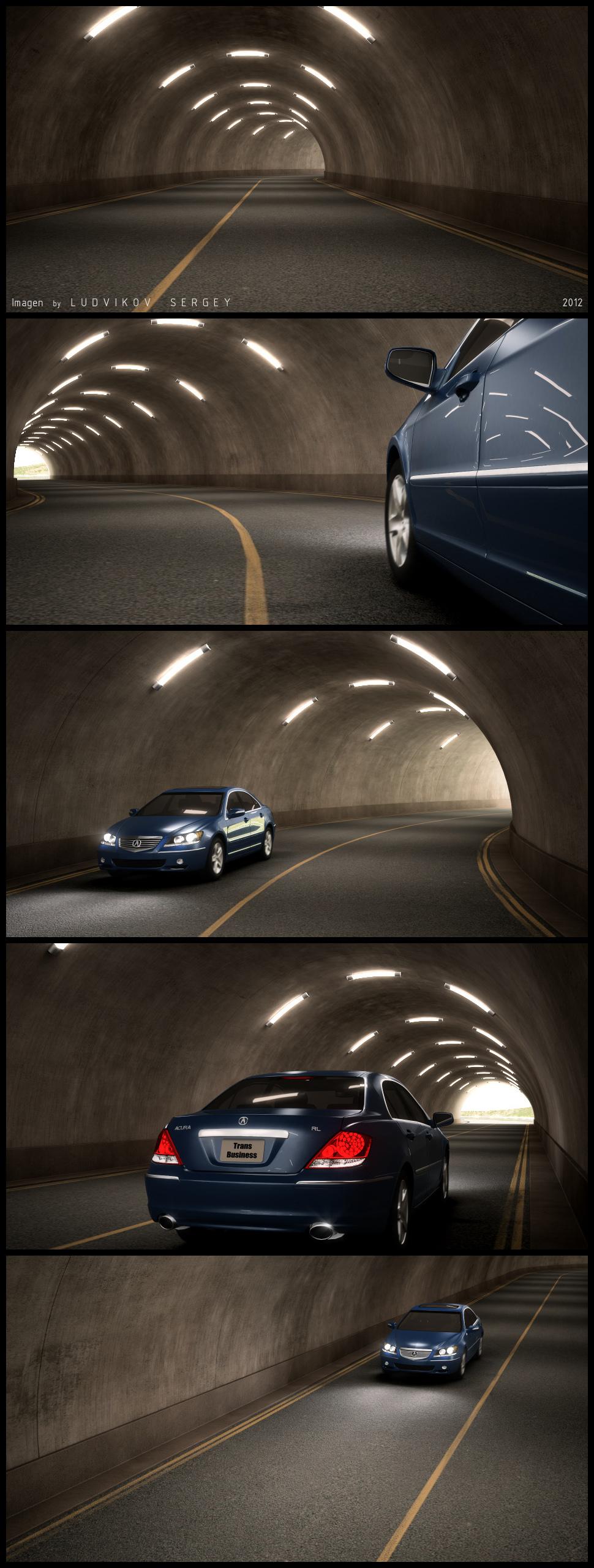 Shot-лист ролика машины в тоннеле