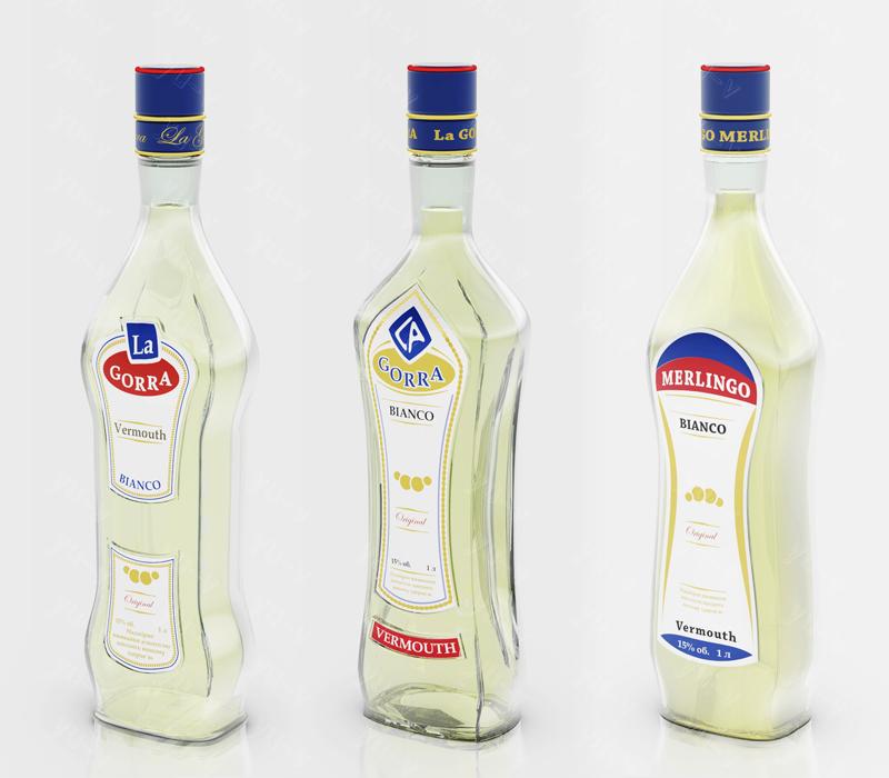 Концепт бутылки для вермута