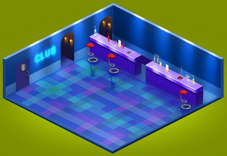Внутренняя локация Клуба в игре Хомячки