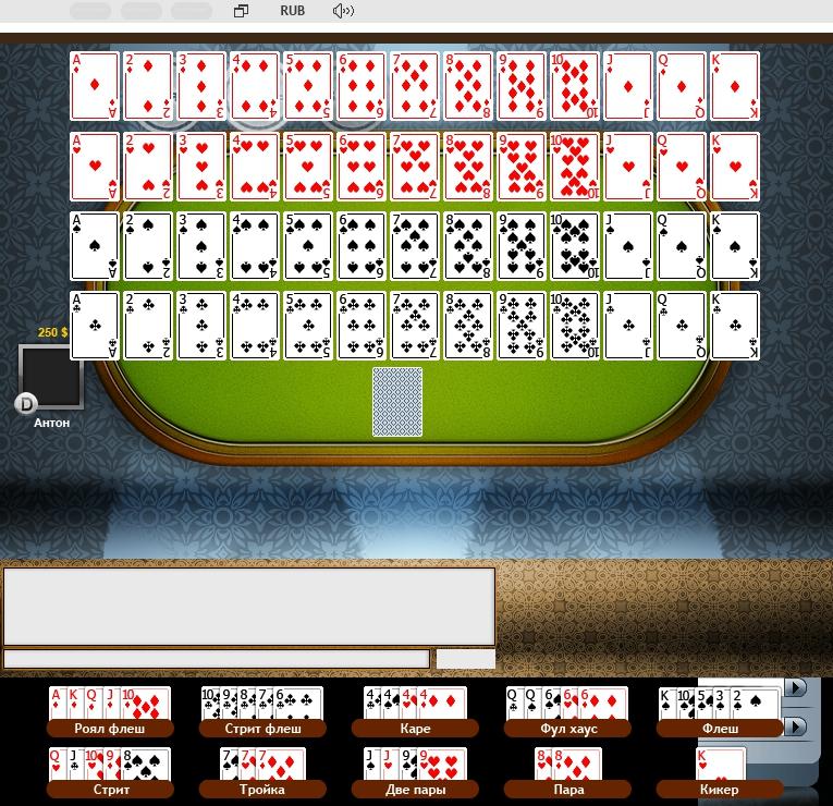 Графика для игры Покер