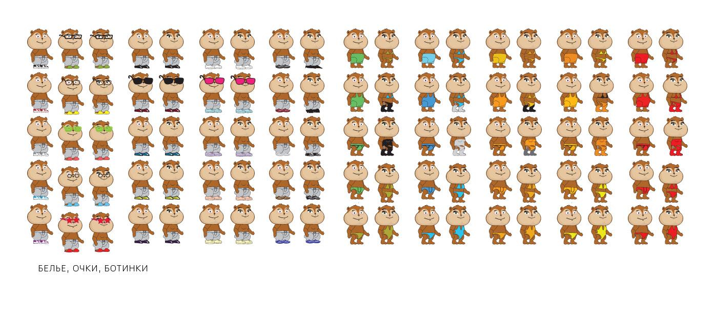 Одежда для персонажей в игре Хомячки
