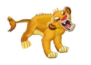 Сердитый лев для аналога игры Sims