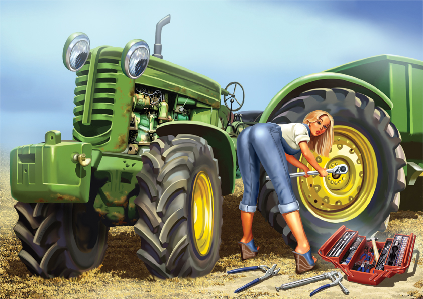 День, картинки тракторов прикольные