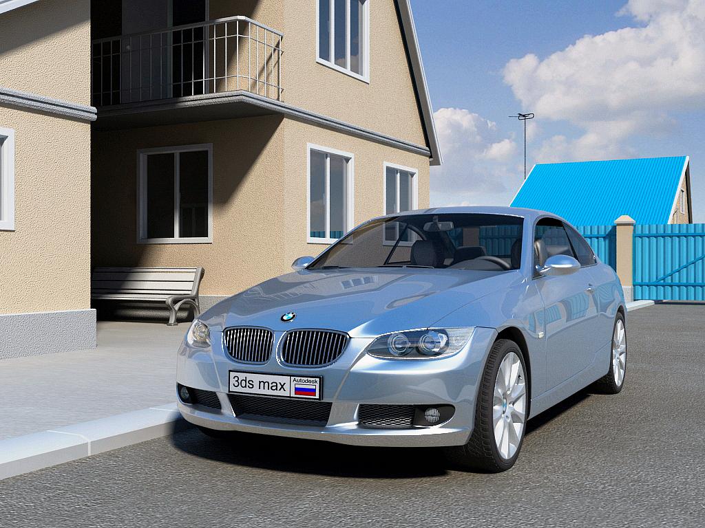 BMW 3-series - моделирование и визуализация