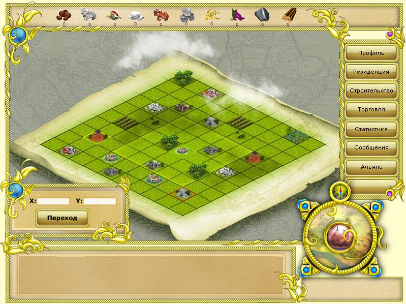 Карта в аналоге игры Травиан