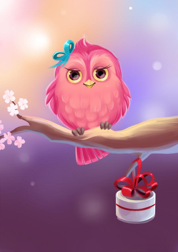 Открытки для девушек птички, видео