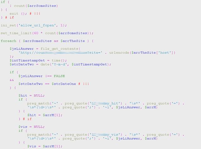 Система накапливания статистики со счетчиков LiveInternet