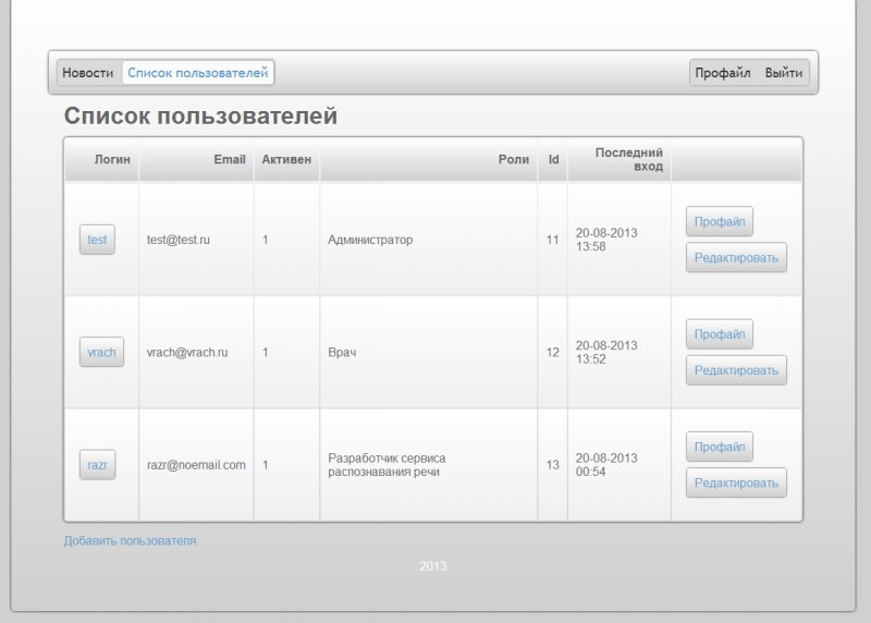 Дизайн интерфейса jQuery UI