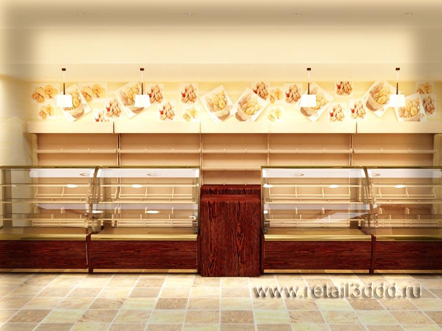Визуализация  хлебного отдела