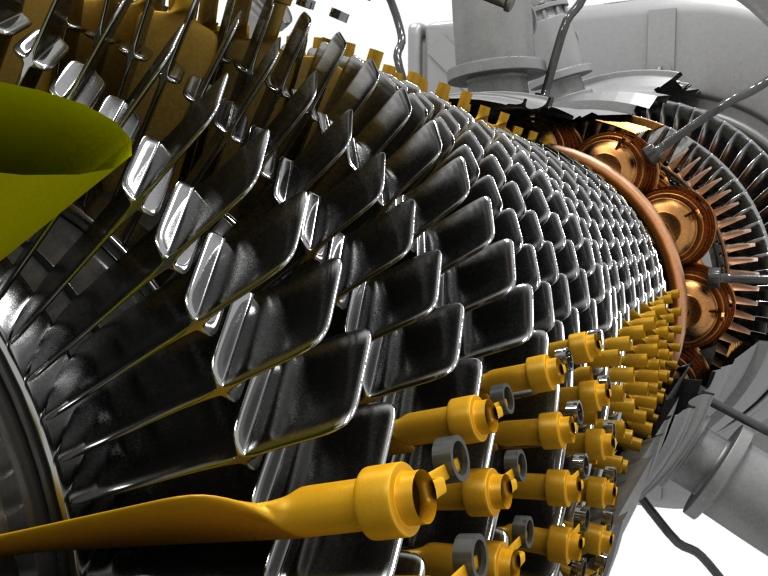 Двигатель ПС 90 в разрезе