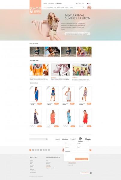 Дизайн магазина элитной одежды