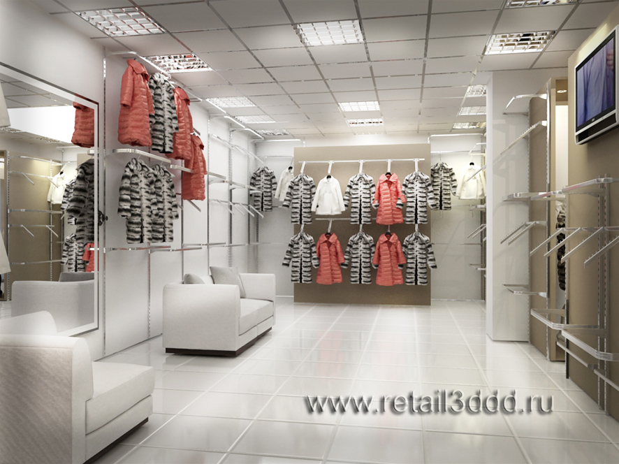 Визуализация магазина верхней одежды