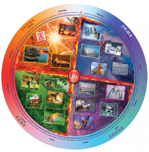 календарь круглый с символикой