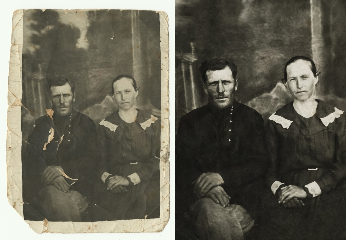 Восстановление черно-белого фото