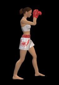 Женский герой для игры Тайский бокс