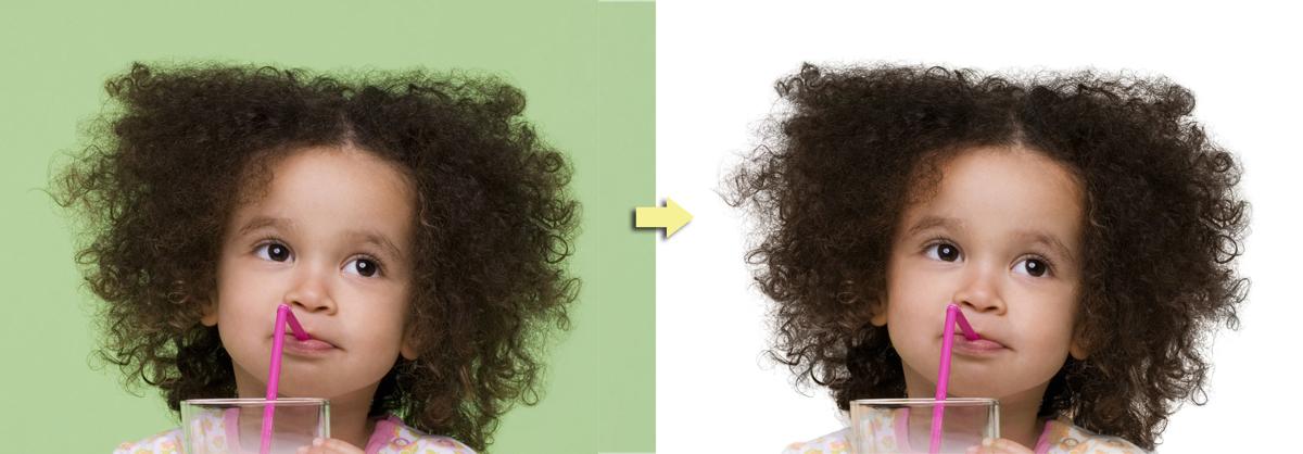 обтравка пушистых волос