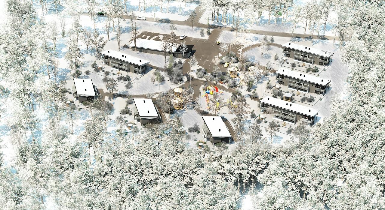 Генплан 2 поселка в Финляндии (зима)