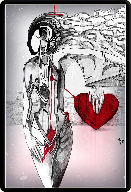 """Графика. """"Путь к сердцу""""."""