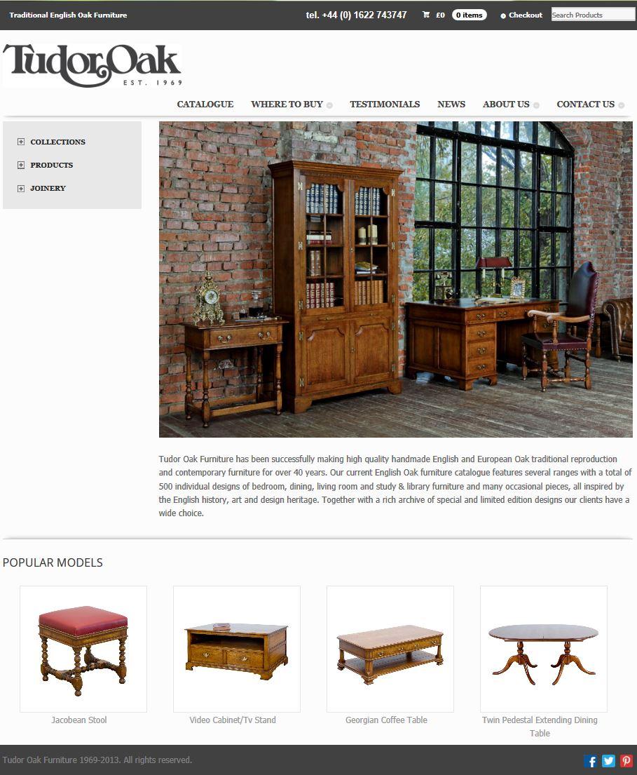 Переделка 3-х сайтов англ. фабрики Tudor Oak (Wordpress)