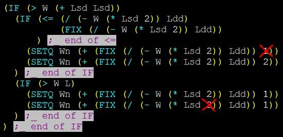Исправлены ошибки, внесены изменения в программу VisualLisp