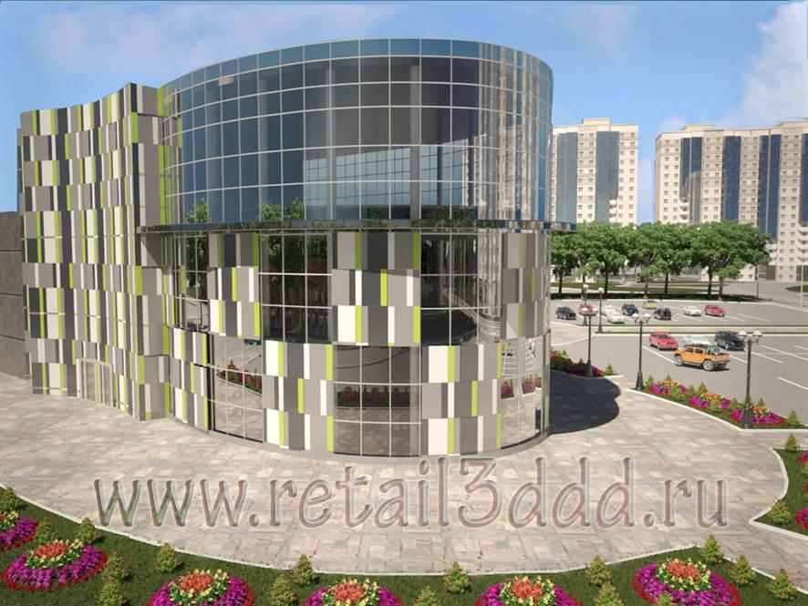 Моделинг и визуализация торгового центра.