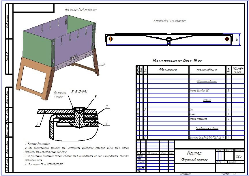 Мангал: модель-конструкция