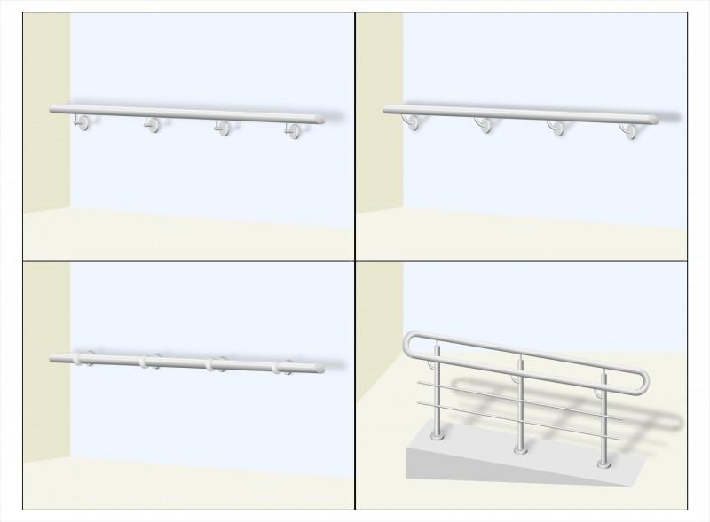 Визуализация изделий из нержавеющей стали(поручни)