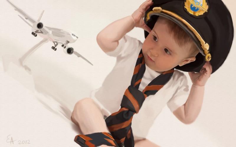Портрет сына летчика.