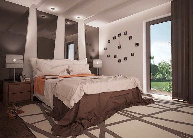 Дизайн спальной для частного дома