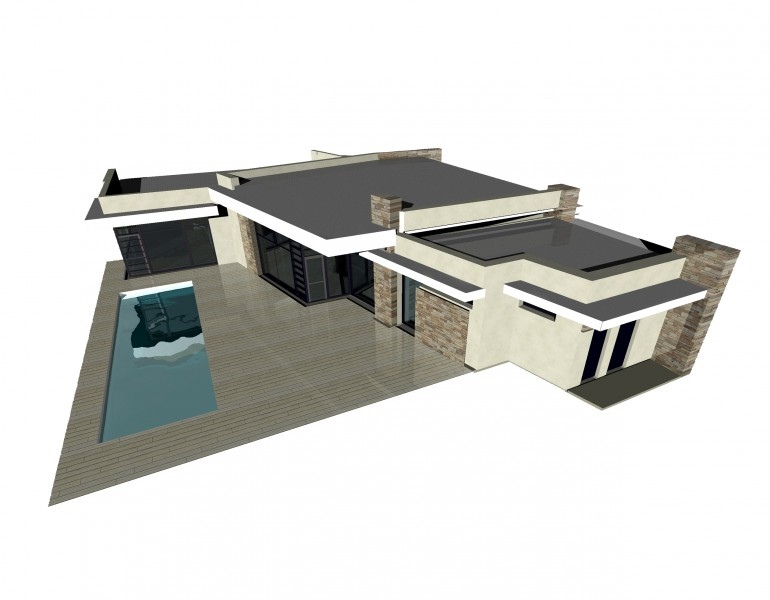 Дизайн одноэтажного жилого дома