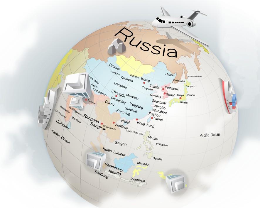 Глобус (отрисовка в векторе)
