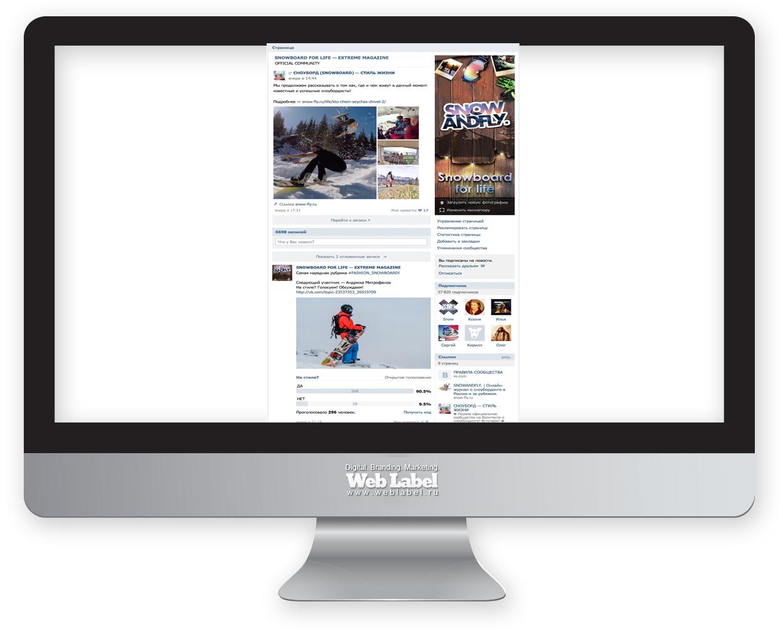 SMM продвижение паблика на Вконтакте SNOWANDFLY