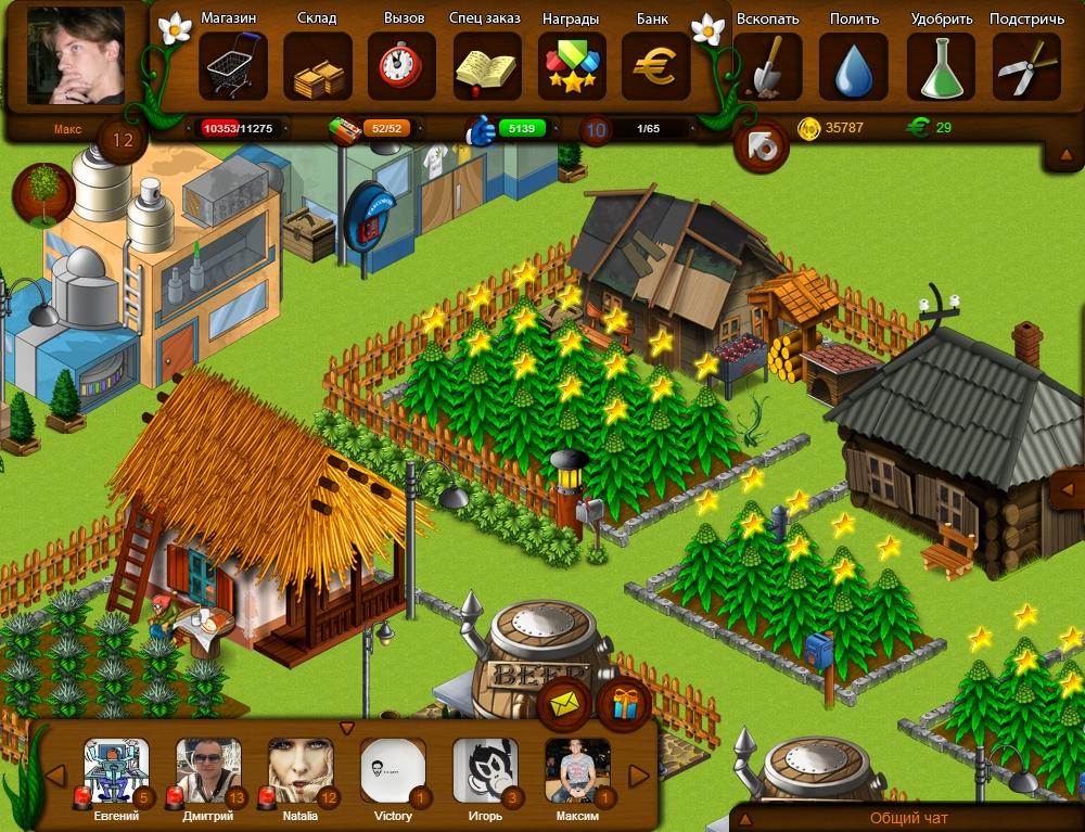 Разработка клиента социальной игры ВКонтакте жанра ферма