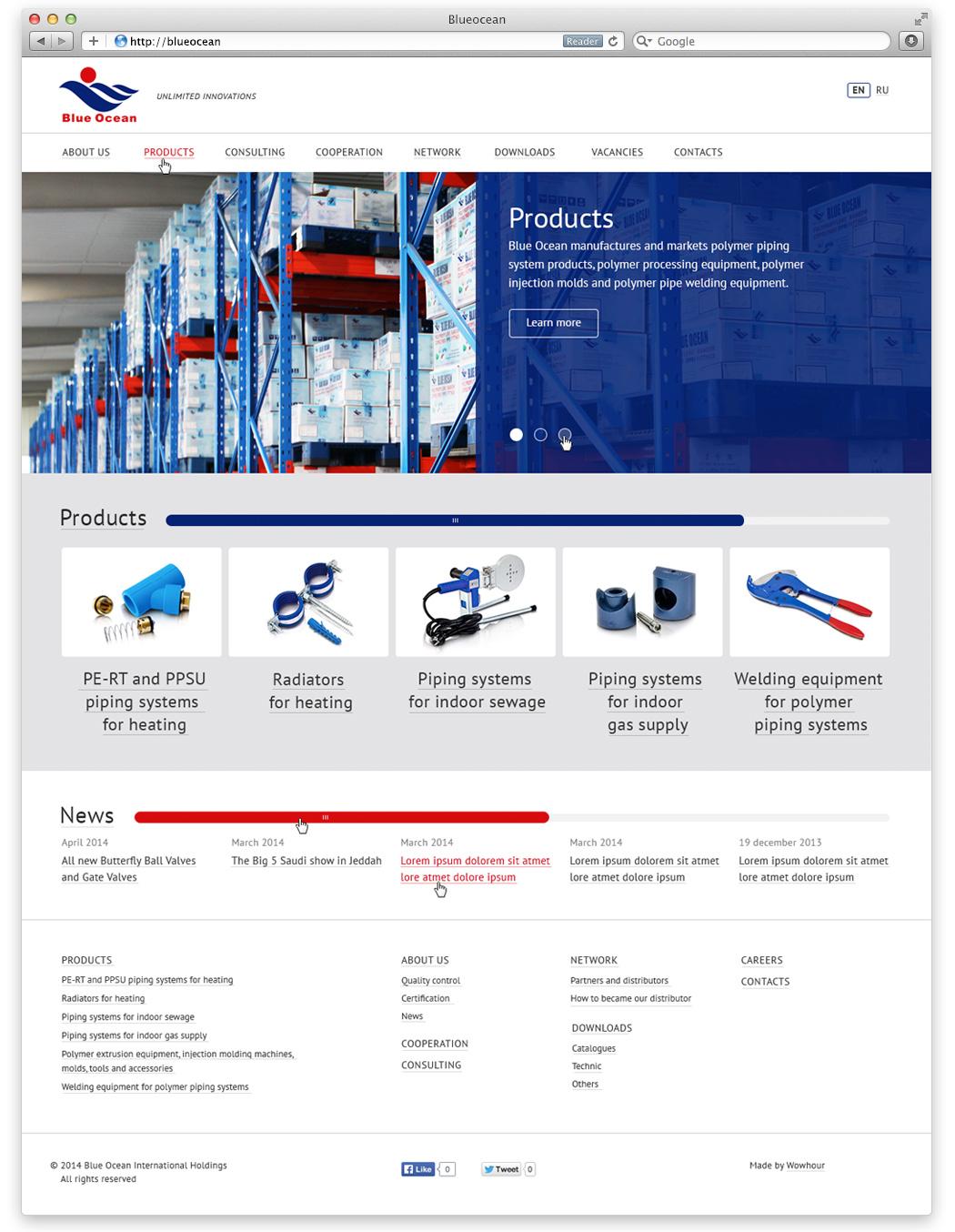 Сайт под ключ для международной промышленной группы компаний