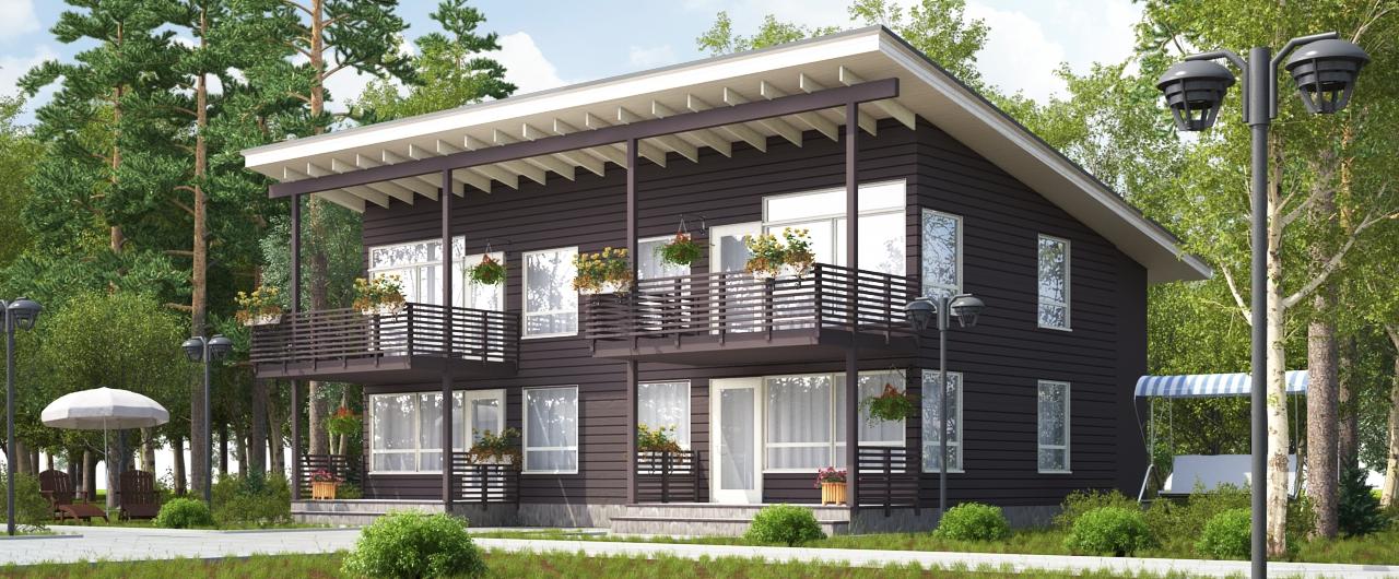 4-х квартирный дом для КП в Финляндии