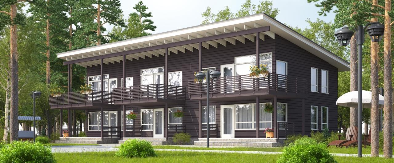 6-ти квартирный дом для КП в Финляндии