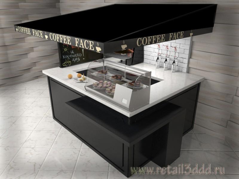 Торговый остров по продаже кофе и выпечки.