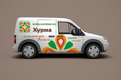 брендирование автомобиля службы доставки
