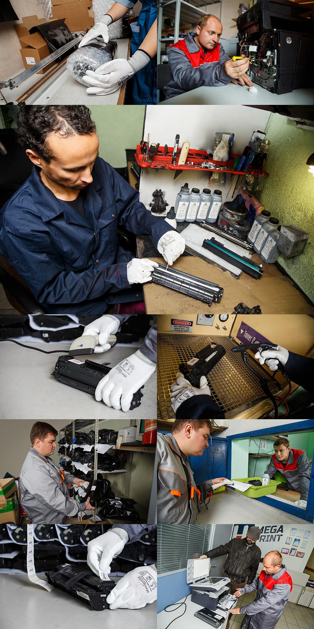 Мегапринт: производственный репортаж для компании (9 фото).