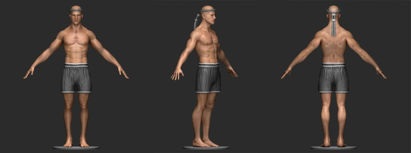 Разные позы боксера для 2-й версии игры Тайский бокс (ZBrush)