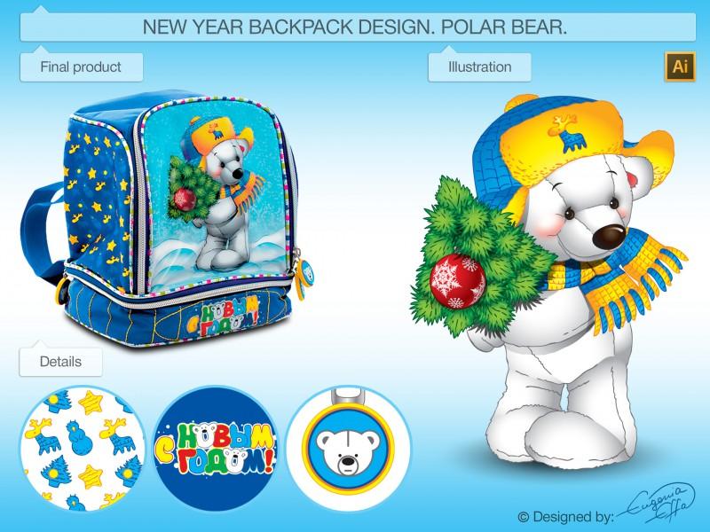 Новогодний рюкзачок-упаковка для мальчика.