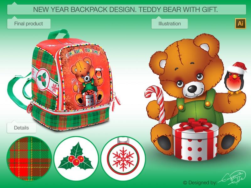 Новогодний рюкзачок-упаковка.