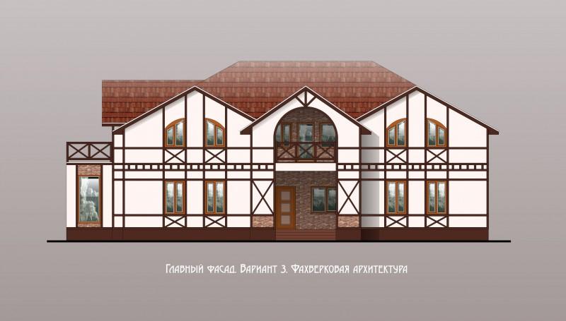 дизайн фасада индивидуального жилого дома