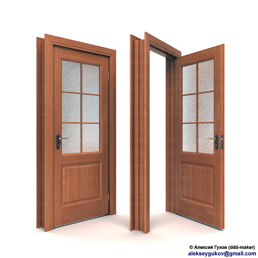 Визуализация межкомнатной двери