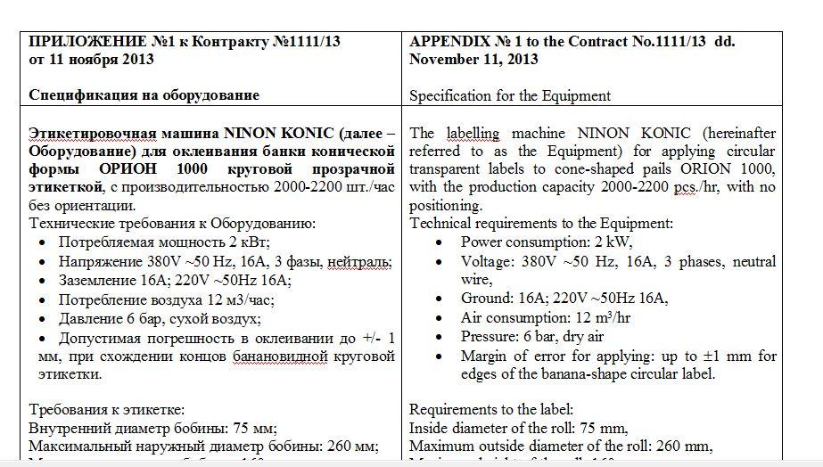 Технический перевод русско-английский