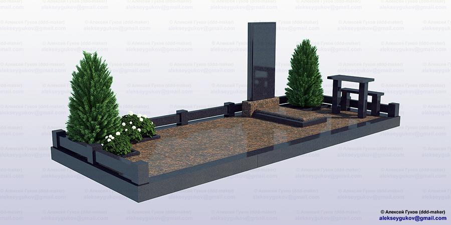 Памятник_2 - моделирование и визуализация